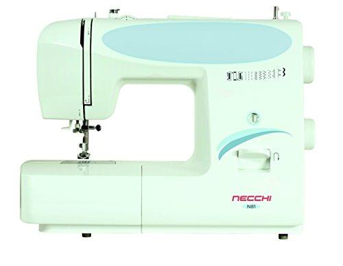 Necchi N81 Macchina per Cucire Automatica, Plastica, Bianco, 38 x 30 x 17 cm